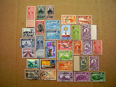 ETHIOPIA 1928-1965 31 Stamps USED and MINT selection to include Overprints.
