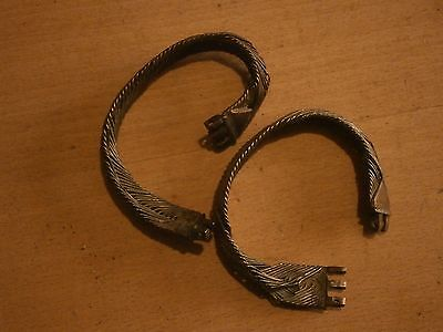 Antique Vintage Rare Silver Bracelet 2 Pieces Bijou