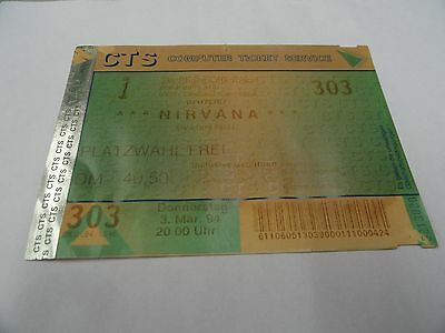 Nirvana Ticket In Utero Tour March 3 1994 Stadthalle Offenbach Main Germany