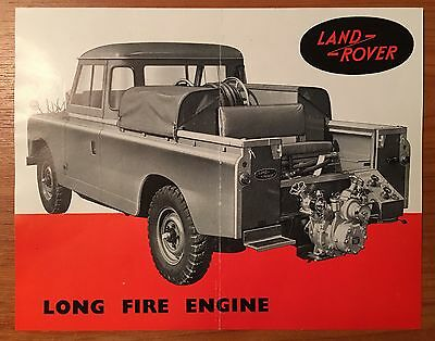 Early LAND ROVER SERIES 1 2 2A  fire Engine  BROCHURE Ref No. 575