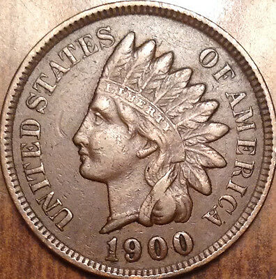 1900 Usa Indian Head Penny In Superb High Grade !!!