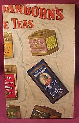 Old Part of Chase & Sanborns Coffee & Tea Tin Poster Advertising