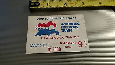 Vintage Bicentennial American Freedom Train Ticket Stub-June 9, 1976