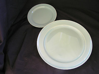 2 LuRay Pastel TST Mint GREEN Bread & Butter and Dinner Plate