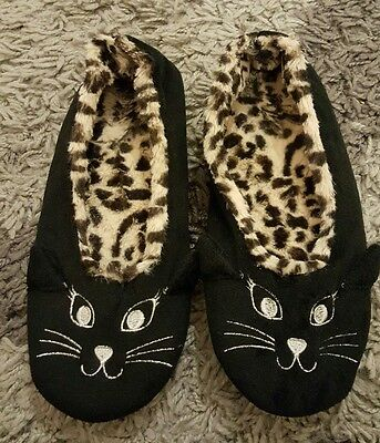 NEW womens slippers size 6 NEW LOOK leopard print