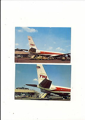 Twa Trans World  Airlines  B-707  @ Pittsburgh Pa  Airport  Old Terminal