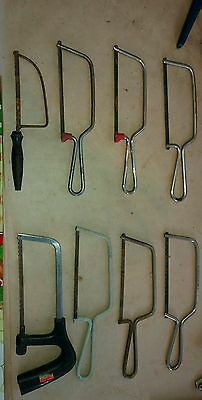 8x Vintage junior hacksaw. ECLIPSE.STEADFAST.W.GERMAN. ENOX.