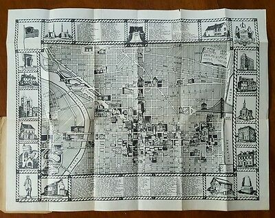 TMS * Pictorial Map of Philadelphia 1936 * The Map Store * K.F. Lutz