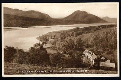 Loch Laggan & Hotel, Newtonmore, Inverness-shire. Used. 1929.