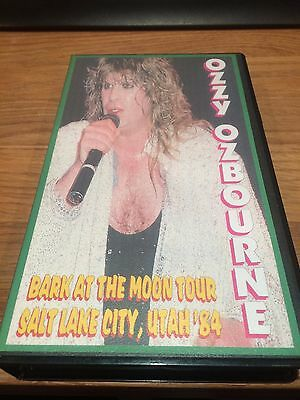 Ozzy Osbourne Live VHS tape 'Bark at the Moon' tour 1984 Black Sabbath