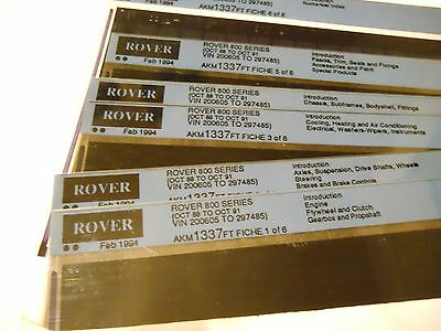 Rover 800 Parts Microfiches 1988-91
