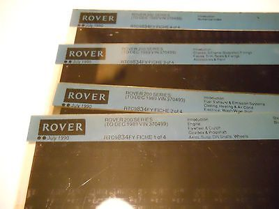 Rover 200  Parts Microfiches To Dec 1989