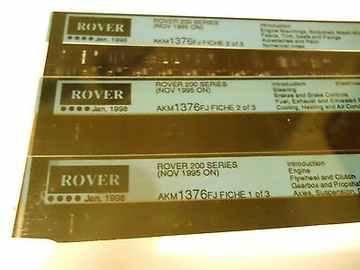 Rover 200  Parts Microfiches Nov 1995 On