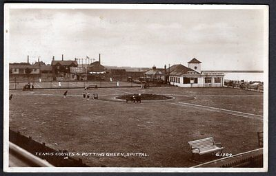 Tennis Courts & Putting Green, Spittal, Northumberland. Real photo. Used 1937.