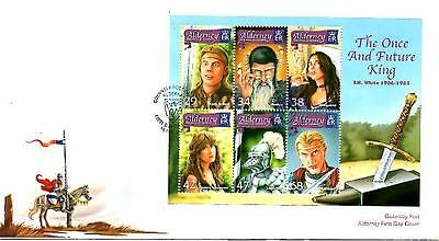 Alderney The Once And Future King M/s Fdc 16-2-06 Guernsey Post Office Shs F2