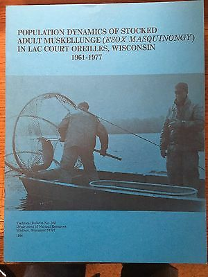 Rare Technical Muskie Report - Wisconsin - Musky- Lac Court Oreilles Lake