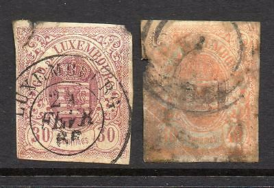 LUXEMBOURG  2 stamps Inc: SG13 SPACEFILLERS with faults See Reverse Scan Seconds