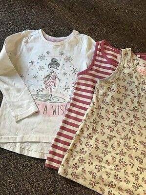 Dunnes Long Sleeve & Next Girls Vests Age 5 Years