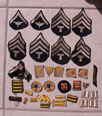 Original Wwii Army Air Corps Rank Dui Stripes  Patch Lot Grouping Nr  #20