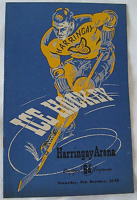 1948   HARRINGAY RACERS  v  WEMBLEY MONARCHS  PROGRAMME