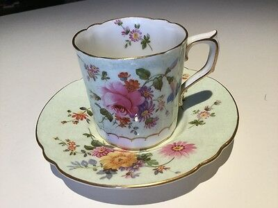 ROYAL CROWN DERBY COFFEE CUP AND SAUCER 1960 Pattern A.697