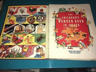 Vintage The Children's Wonder Book In Colour, Odhams Press 1949