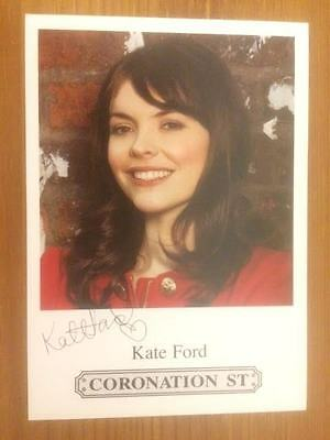 "Kate Ford Coronation Street Pre-Printed Signature Cast Card 6"" X 4""."