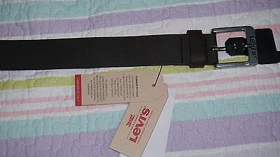 Levis mens belt-100% leather-made in Italy -Size 100/40