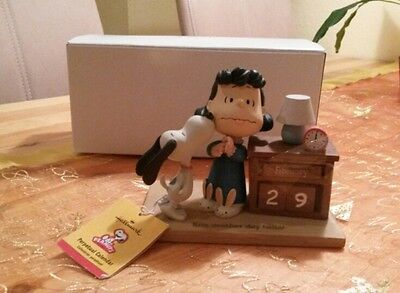 SNOOPY & Lucy / ewiger Kalender / Kiss another day hello! / Neu  !!