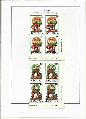 Lesotho 1981.Paintings by Norman Rockwell. . Mint x 4