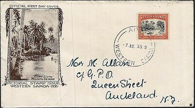 Western Samoa 1935 Definitive 2D On Fdc To New Zealand