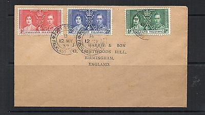 Falkland Islands 1937 Coronation  First Day Cover XF