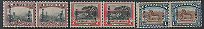 South West Africa 1927 South Africa Overprints Sg 49-51 2D, 3D And 1/- Mint
