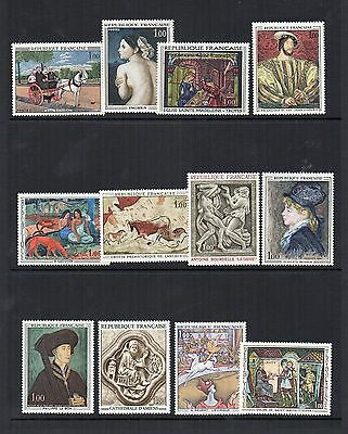 France 1967 to 1969 selection of French Art Sets MNH