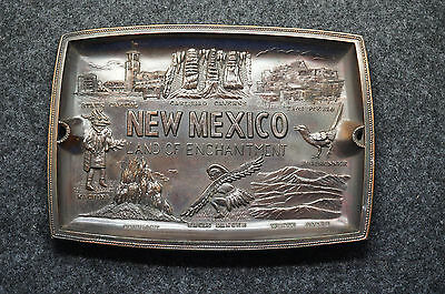 "Vintage Souvenir New Mexico Land Of Enchantment Change Dish 6 3/8"" x 4 1/2"""