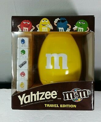 M&M's(R) + Yahtzee Travel Edition - Yellow  Cup - New Sealed in Box