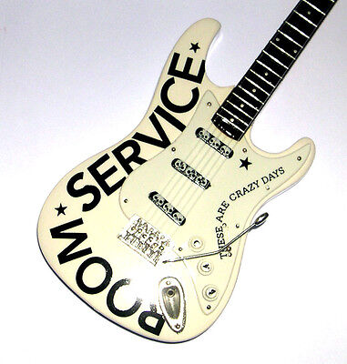 NEW Miniature Electric Guitar and stand Bryan Adams Room Service