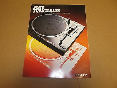 SONY Vintage Stereo Turntable Original Catalog