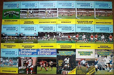 TOTTENHAM HOTSPUR FC 1977 to 1980 HOME FOOTBALL PROGRAMME COLLECTION Spurs THFC