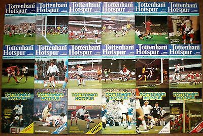 TOTTENHAM HOTSPUR FC 1978 to 1980 HOME FOOTBALL PROGRAMME COLLECTION Spurs THFC