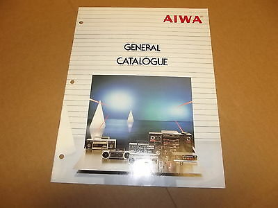Aiwa boombox and more Stereo Vintage Original  General Catalog Catalogue