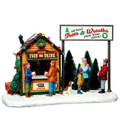 2016 Lemax Trees Wreaths Hot Food Cocoa Christmas Building Village