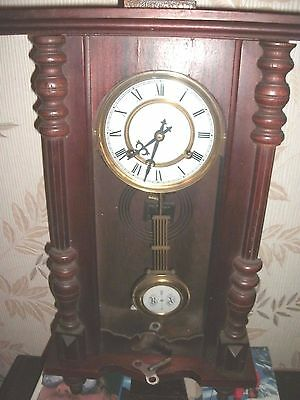 Antique/vintage Mahogany Cased Vienna Style Wall Clock