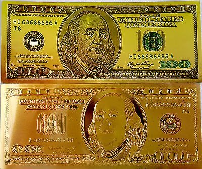 USA THE UNITED STATES OF AMERICA 100 DOLLARS GOLD 1976 UNC Plastic