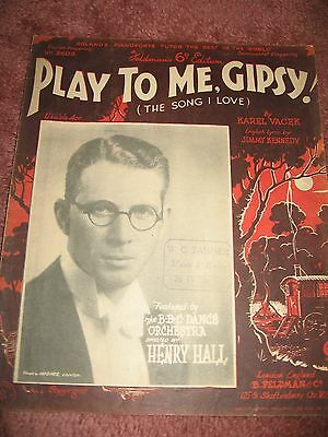 Play To Me Gipsy Vintage Sheet Music