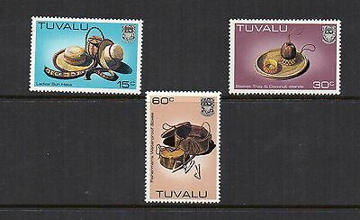 Tuvalu 1983 Handicrafts a numbers high values  SG203a-205a-209a MNH