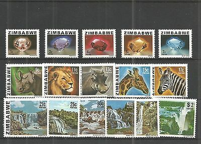 ZIMBABWE 1980, 1st DEFINITIVE ISSUE Complete Set of 15, MNH