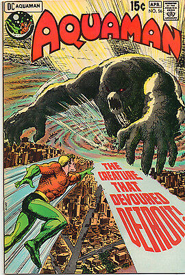 Aquaman #56 - The Creature That Devoured Detroit - (Grade 9.0) 1971