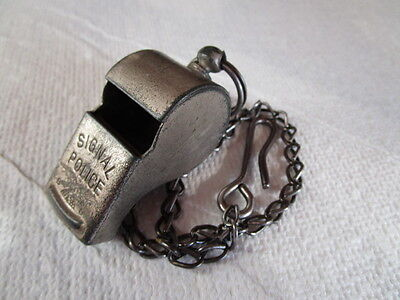 Vintage 1920's / 30's Signal Police Whistle w/ Lanyard  ~  Made in Germany