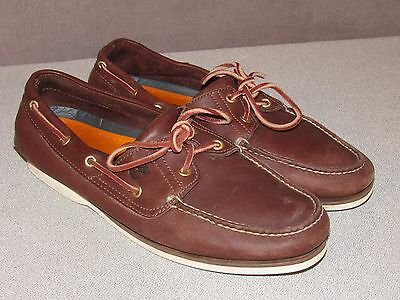 TIMBERLAND Brown Leather Boat Shoes Men's Size 11 M